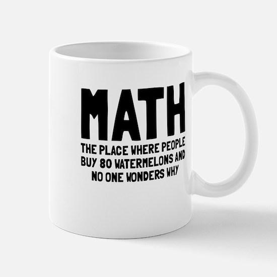 Math 80 watermelons Mug