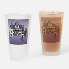 Haunted House Tall Purple Drinking Glass