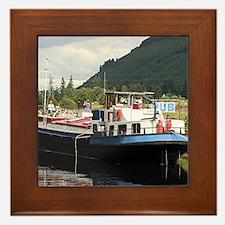 Eagle Inn pub barge, Scotland Framed Tile