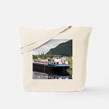 Eagle Inn pub barge, Scotland Tote Bag