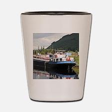 Eagle Inn pub barge, Scotland Shot Glass