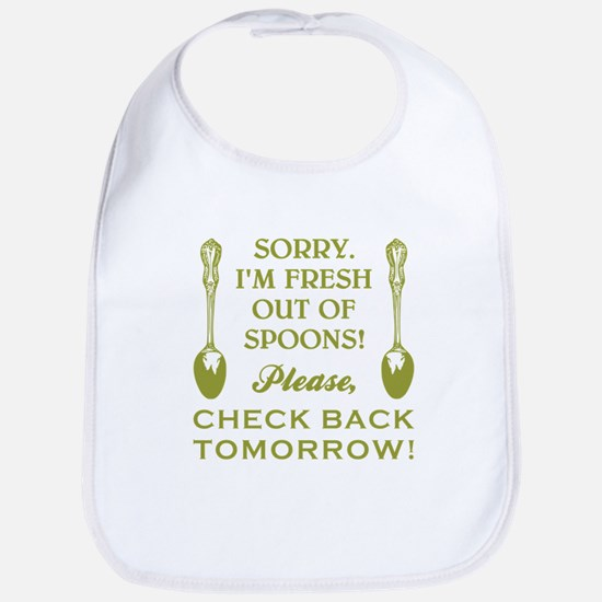 FRESH OUT OF SPOONS Bib