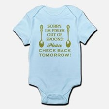 FRESH OUT OF SPOONS Infant Bodysuit