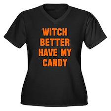 Witch better Women's Plus Size V-Neck Dark T-Shirt
