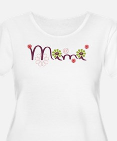 Mimi Flowers Plus Size T-Shirt