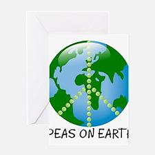 Funny Peas earth Greeting Card