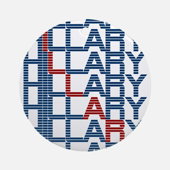 hillary clinton text stacks Round Ornament