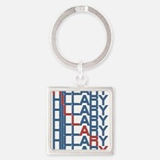 hillary clinton text stacks Keychains