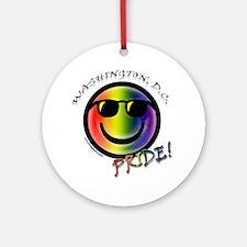 Gay Pride DC Ornament (Round)