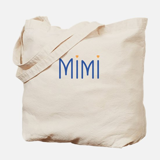 Mimi Blue Orange Tote Bag