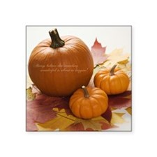 "AUTUMN BLESSINGS Square Sticker 3"" x 3"""