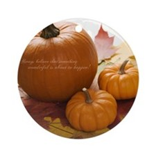 AUTUMN BLESSINGS Round Ornament