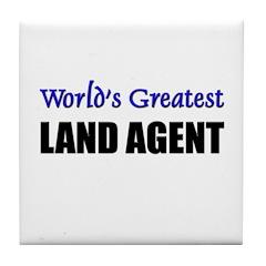 Worlds Greatest LAND AGENT Tile Coaster