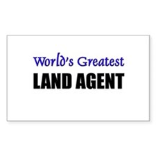 Worlds Greatest LAND AGENT Rectangle Decal