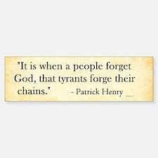 Patrick Henry - Tyranny - Bumper Stickers