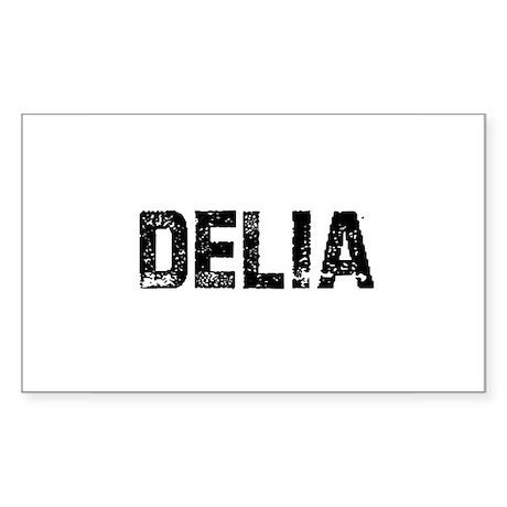 Delia Rectangle Sticker