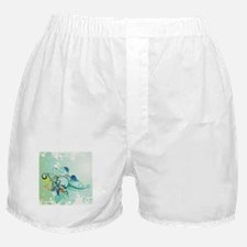 Tropical Flourishes on Mottled Light Boxer Shorts