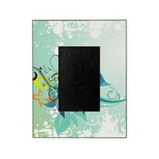 Tropical Flourishes on Mottled Light Picture Frame