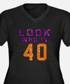 Look Who Is Women's Plus Size V-Neck Dark T-Shirt