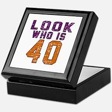 Look Who Is 40 Keepsake Box