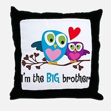 Big Brother Owl Throw Pillow