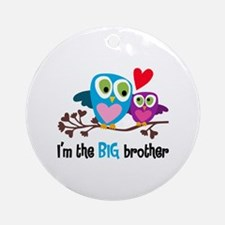 Big Brother Owl Round Ornament