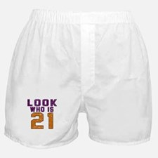 Look Who Is 21 Boxer Shorts