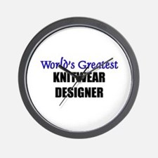 Worlds Greatest KNITWEAR DESIGNER Wall Clock