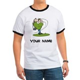 Funny golfer with personalization Ringer T