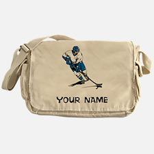 Hockey Player Messenger Bag