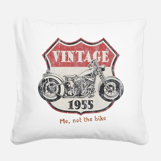 Vintage (your year) Square Canvas Pillow