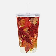 Fall Sugar Maple Leaves Acrylic Double-wall Tumble