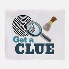 Get A Clue Throw Blanket
