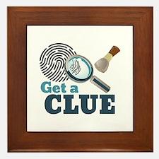 Get A Clue Framed Tile