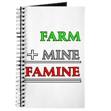 Farm plus Mine equals Famine Journal