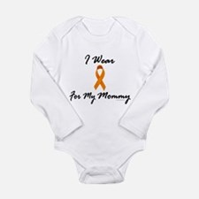 Cute Orange kidney cancer Long Sleeve Infant Bodysuit