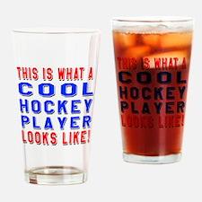 Hockey Player Looks Like Drinking Glass