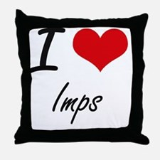 I Love Imps Throw Pillow