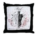 Back Where it Belongs Throw Pillow