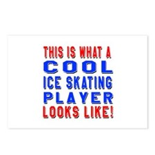 Ice Skating Player Looks Postcards (Package of 8)