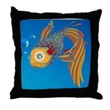 My colorful fish Throw Pillow