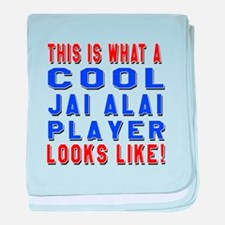 Jai Alai Player Looks Like baby blanket