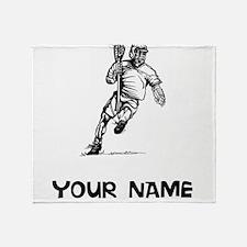 Lacrosse Player Throw Blanket