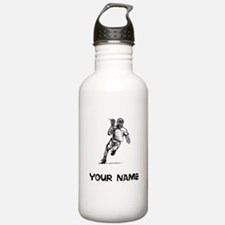 Lacrosse Player Water Bottle