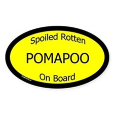 Spoiled Pomapoo On Board Oval Decal
