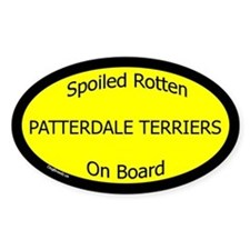 Spoiled Patterdale Terriers Oval Decal