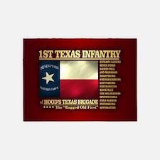 1st Texas Infantry (BH2) 5'x7'Area Rug