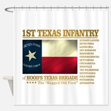 1st Texas Infantry (BH2) Shower Curtain