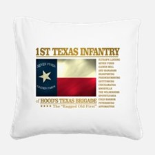 1st Texas Infantry (BH2) Square Canvas Pillow