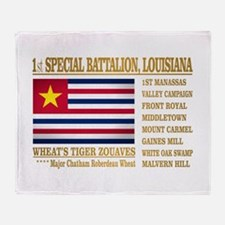 1st Sp Bat, Louisiana Throw Blanket